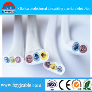 Shanghai Port 300/500V 3 Core Electrical Wire Flat Cable pictures & photos