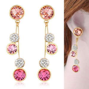Pink Rhinestone Crystal Star Fashion Style Earring Jewelry pictures & photos