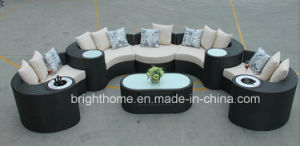 New Design Wicker Furniture Sofa Set with Ice Bucket Outdoor Furniture Bp-873 pictures & photos