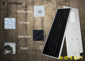 Integrated IP65 3-Years-Warranty High Efficiency Bright LED Solar Street Lights pictures & photos