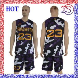 2016 Custom New Design Sublimated Camo Basketball Uniform pictures & photos