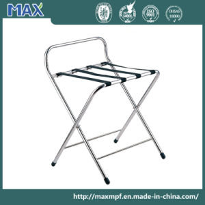 Hall Chrome Stand Folding Hold Suitcase Hotel Passenger Luggage Rack pictures & photos