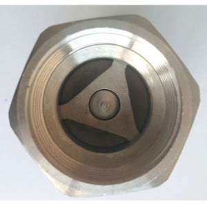 Ss304 NPT Female Threaded Vertical Check Valve pictures & photos