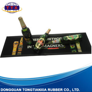 Promotional Custom Printing Felt Top Nitrile Rubber Bar Mat pictures & photos