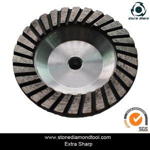 Single Turbo Shape Aluminium Type Diamond Cup Grinding Wheels pictures & photos