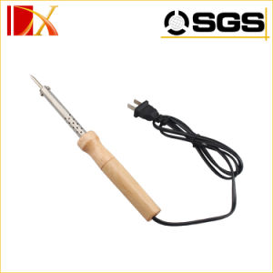 Professional Electric Micro Soldering Iron with Wood Handle