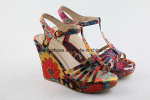 Nation Style Women Sandal with T-Strap for Show pictures & photos