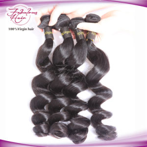 Wholesale 100% Brazilian Virgin Human Hair Loose Wave Double Weft Hair pictures & photos