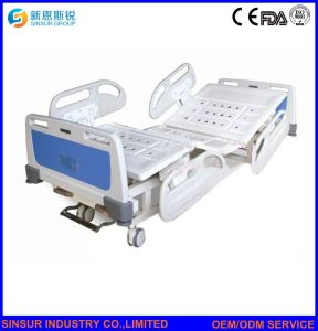 China Factory Medical Furniture Luxury Manual Double-Shake Nursing Hospital Beds pictures & photos