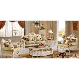 Living Room Furniture Sets with Wood Fabric Sofa (510B)