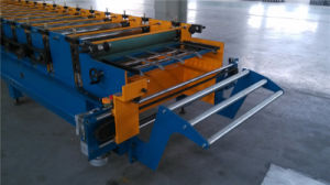 Steel Tile Roof Roll Forming Machine with Hydraulic Press Die pictures & photos