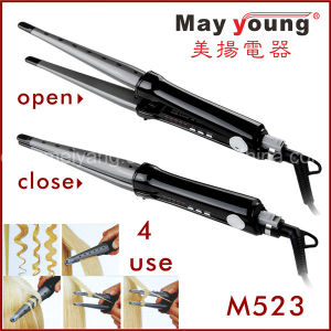 Factory Supply 2 in 1 Hair Curler Flat Iron Hair Straightener pictures & photos
