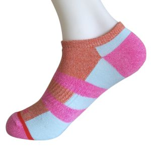 Half Cushion Poly Fashion No Show Color Block Socks (JMPN01) pictures & photos