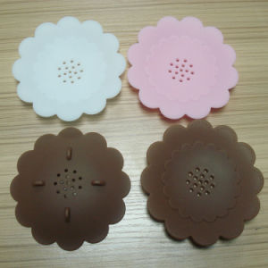 Eco-Friendly Hot Selling Flower Shape Silicone Soap Mat Soap Box pictures & photos
