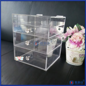 China Factory Clear Acrylic Makeup Case pictures & photos