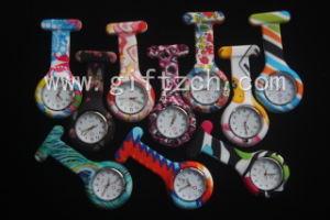 Metal Clip Hands Print Silicone Nurse Watch Glow in Dark