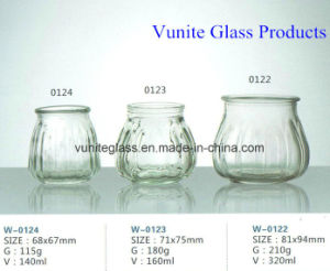 High Clear Pumpkin Shaped Glass Candle Jars Candle Holders Glass Craft