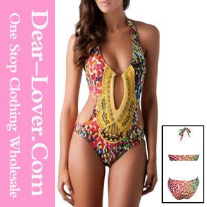 Green Strapless Top Low Rise Bottom Bikini pictures & photos