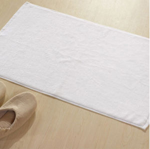 China 100Cotton Plain White Hotel Bath Mat Floor Towel China
