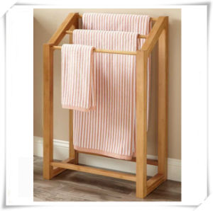 Good Quality Hotel Bathroom Bamboo Towel Rack pictures & photos