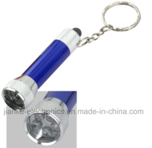 Promotional LED Keychain Flashlight with Logo Print (4070) pictures & photos