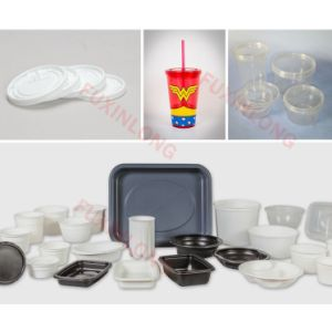 Price Plastic Yaourt Container/Cup Thermoforming Machine pictures & photos