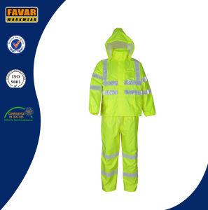 Hi Vis Breathable Water Proof Rain Suit/Rain Wear