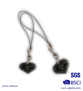 Metal Heart Shaped Couple Phone Strap for Lover Gift (KC-20) pictures & photos