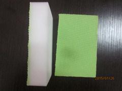 Green Color Glued Melamine Sponge, Cleaning Sponge pictures & photos