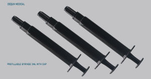 Syringe 3ml Luer Lock with Black Color pictures & photos