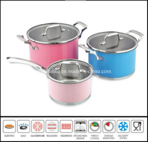 6 PCS Color Coating Stainless Steel Cookware Set pictures & photos