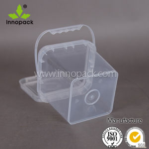 2 L Transparent Food Grade Ice Cream Plastic Square Bucket Made in China pictures & photos