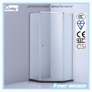 Pivot Hinge Shower Enclosure with Ce/SGCC/CCC Certification (A-CVP026)