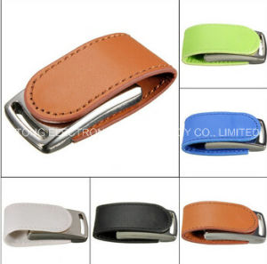 New Design Hot Selling Leather USB Flash Drive Gift