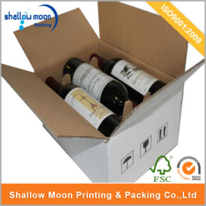 Customized Corruagated Paper Packaging 6 Bottle Red Wine Box (QYCI15111) pictures & photos