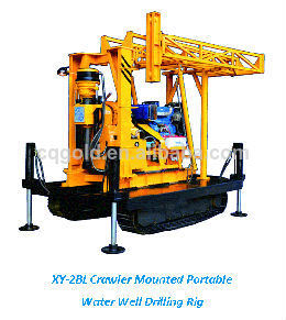 Xy-2bl Crawler Mounted Portable Water Well Drilling Rig, Portable Water Well Drilling Rigs for Sale, Rotary Drilling Rig pictures & photos