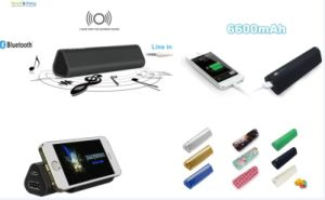Promotional 3 in 1 Power Bank Speaker 6600mAh Bluetooth Speaker with Stand pictures & photos