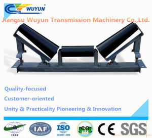 Conveyor Upper Taper Self-Aligning Steel Roller Idler Frame and Belt Conveyor Steel Impact Roller Idler in Machinery pictures & photos
