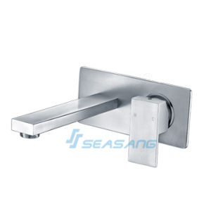 Bathroom Lavatory Bathtub Stainless Steel Square Wall-Mounted Plumber Faucet pictures & photos