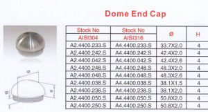 High Quality Dome End Cap pictures & photos