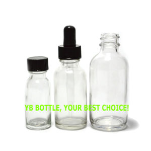 Amber/Clear/Blue/Green Boston Round Glass Bottle with Screw Cap pictures & photos