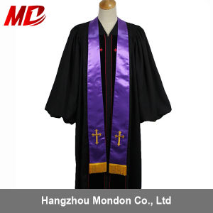 Light Weight Clergy Stole with Embroidery Gold Latin Cross Wholesale pictures & photos