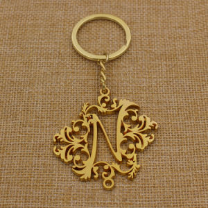 Custom Hollow Metal Gold Key Chain with Good Shape pictures & photos