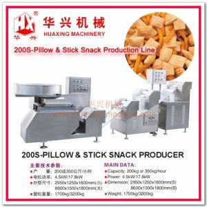 200s-Pillow & Stick Snack Producer (A Machine Making Dough And Sheet/Cracker/Snack Bar) pictures & photos