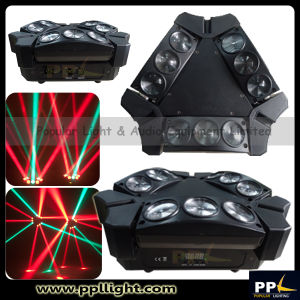 Newest 9PCS 3W RGB LED Mini Moving Head Spider Light pictures & photos