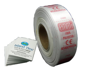 Packed in Roll Satin Care Labels