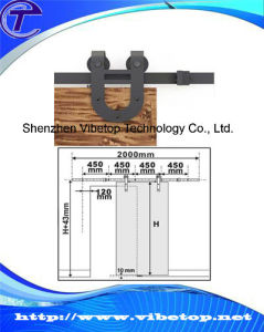China Supplier Barn Wood U-Shaped Sliding Door Hardware pictures & photos