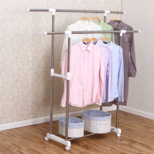 Stainless Steel Double Rod Clothes Hanger pictures & photos