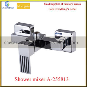 Square Wall Mounted Chrome Shower Mixer pictures & photos