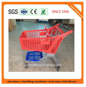 High Quality Supermarket Shop Retail Shopping Trolley Manufacture Metal and Zinc/Galvanized/ Chrome Surface 08017 pictures & photos